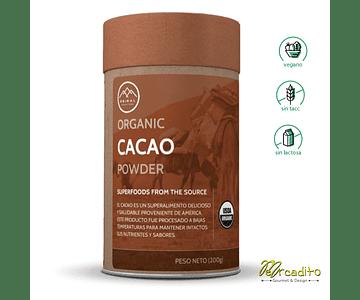 cacao en Polvo Orgánico - Sin Gluten, Vegano, Sin Lactosa