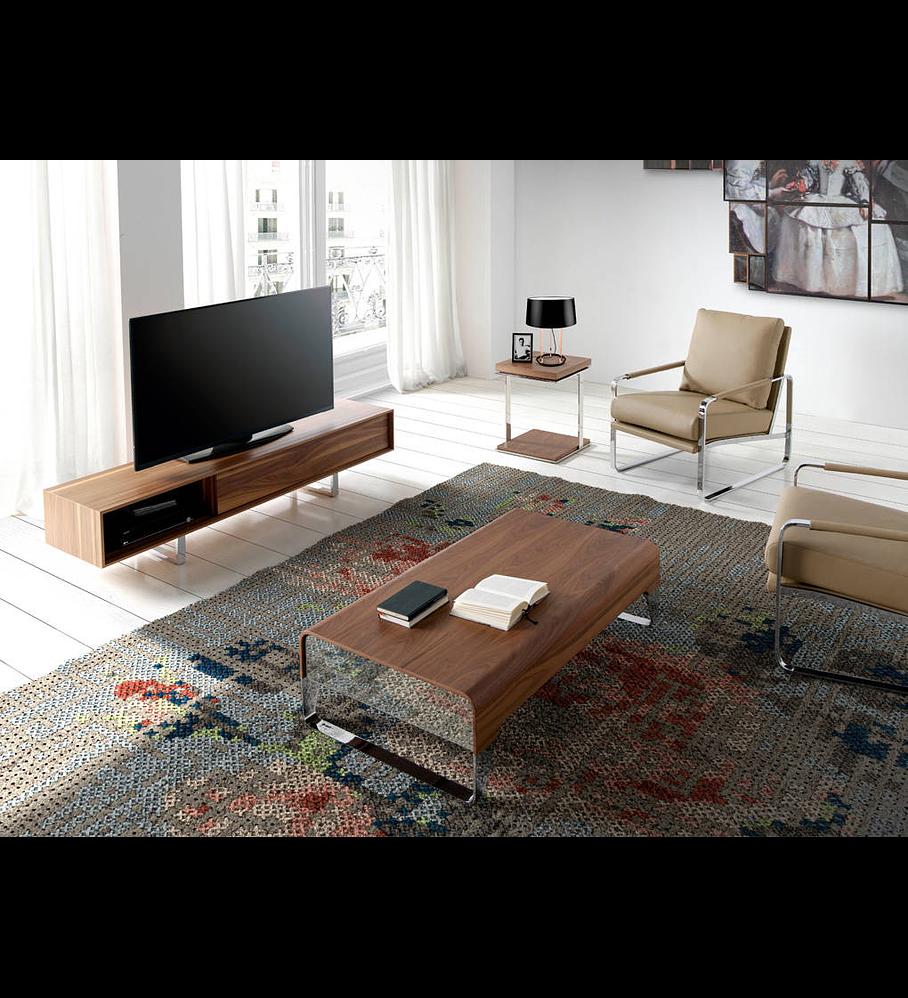 Mueble TV en chapa de nogal