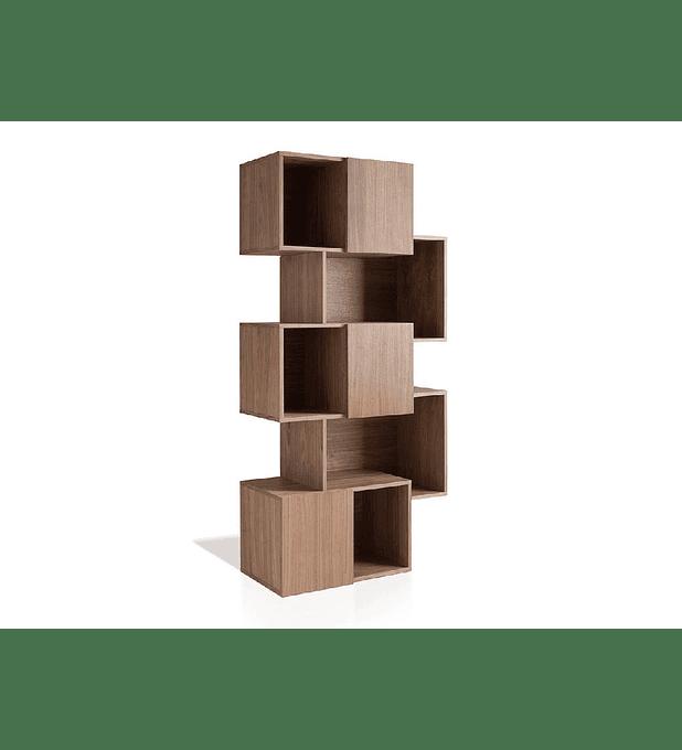 Estante folheada a madeira de nogueira 1405F