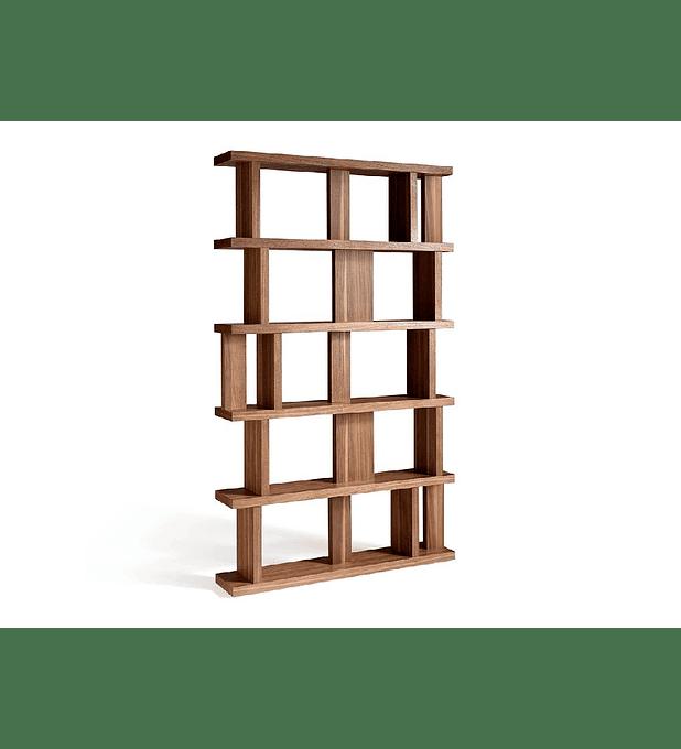 Estante folheada a madeira de nogueira N5400