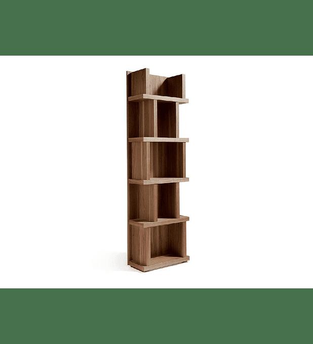 Estante folheada a madeira de nogueira N5405