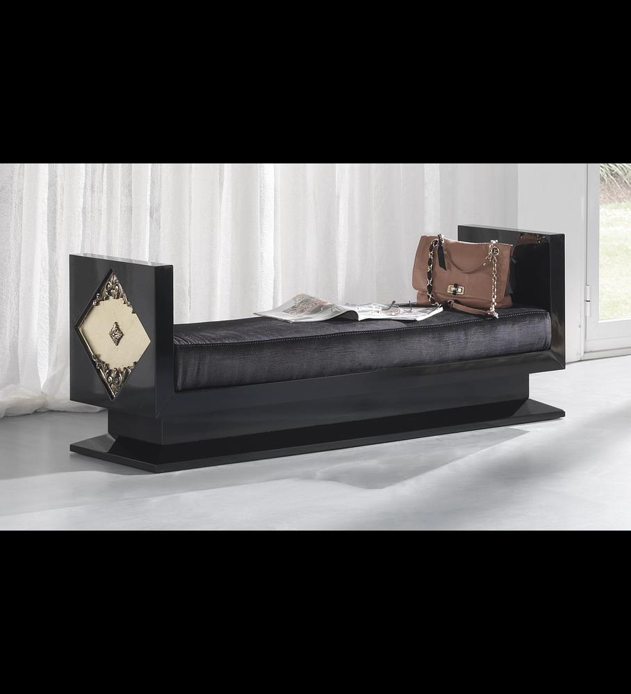 Taburete Negro Brillo / Dorado M190.477