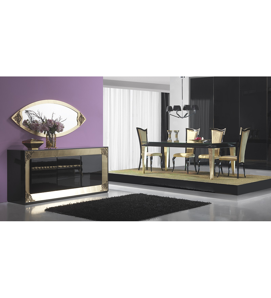 Comedor M193 negro / dorado