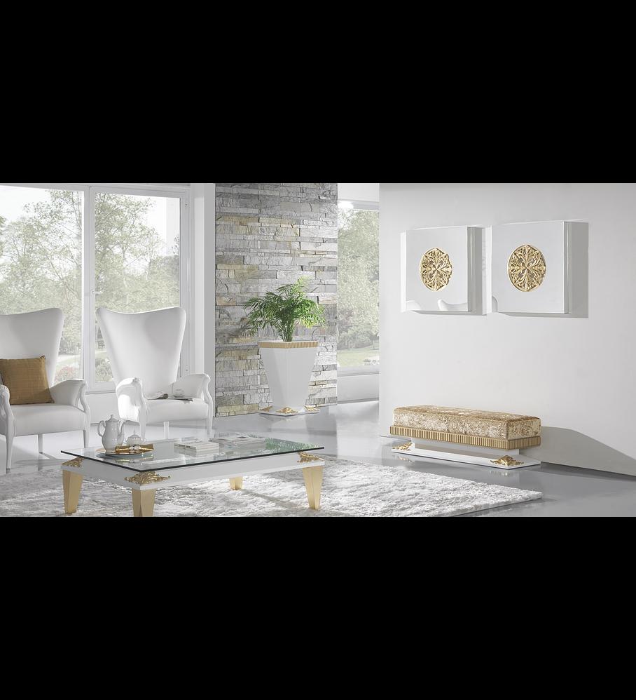 Salón Blanco Mate / Dorado M196