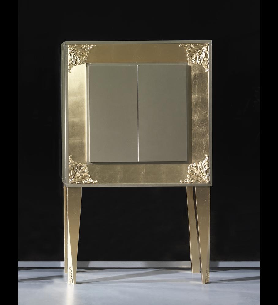 Móvel Bar Champagne Brilho/Ouro M197