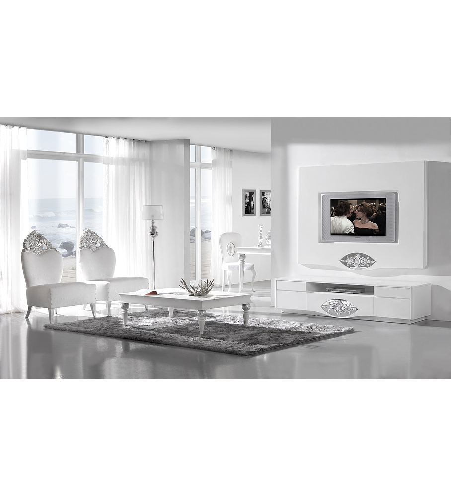 Salón Blanco Mate / Plata M201