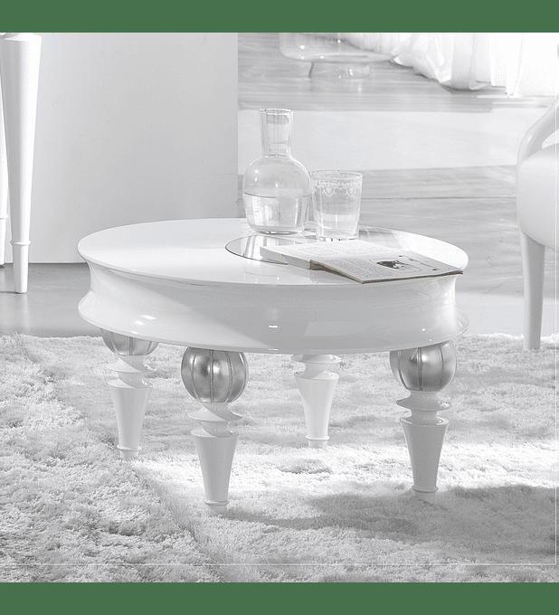 Mesa de Apoio Branco Mate/Prata M202.525