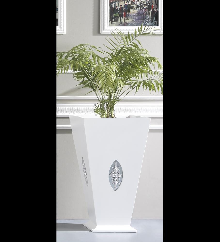 Vaseira Branco Mate/Prata M203.528