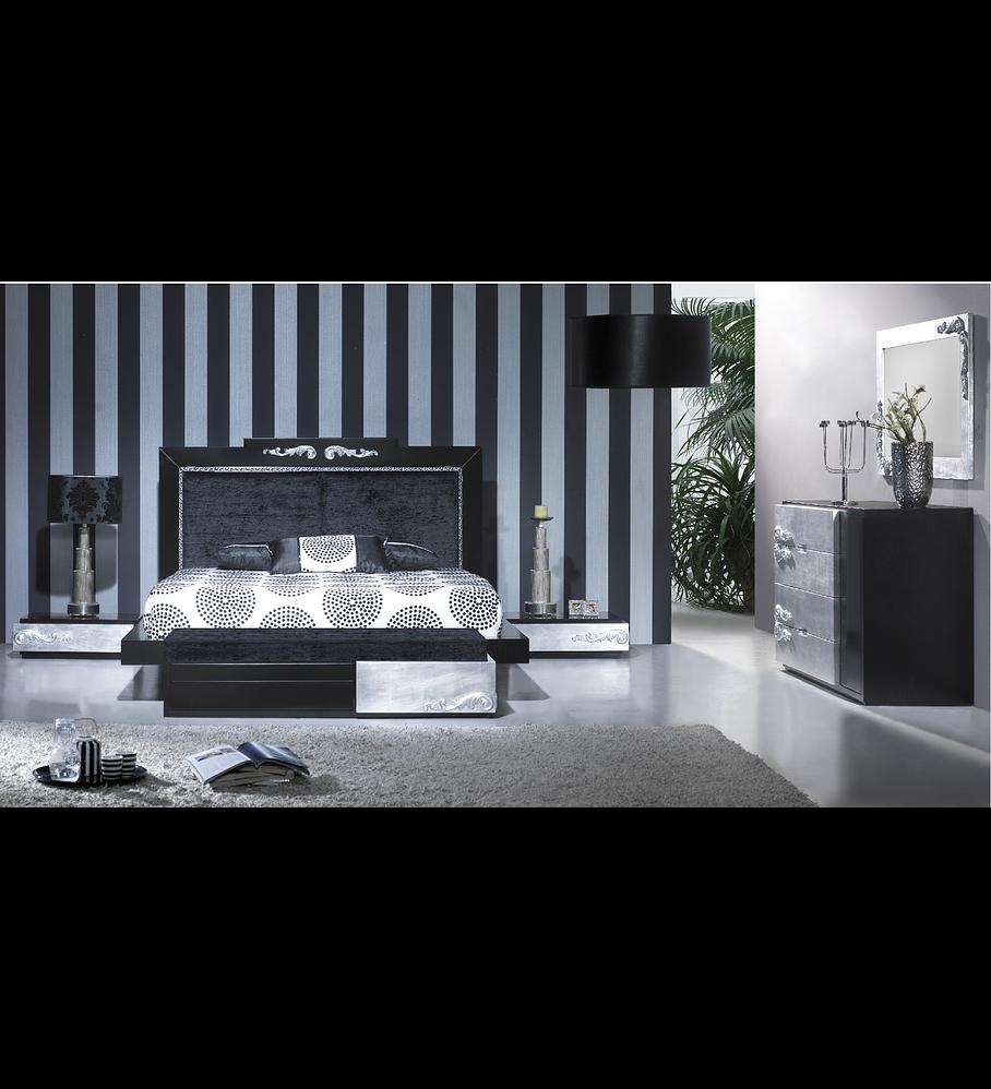 Dormitorio Negro / Plata M165