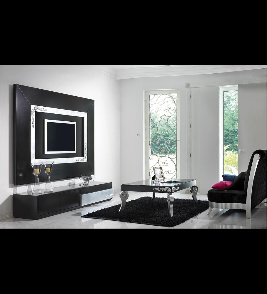 Salón Mate Negro / Plateado M170