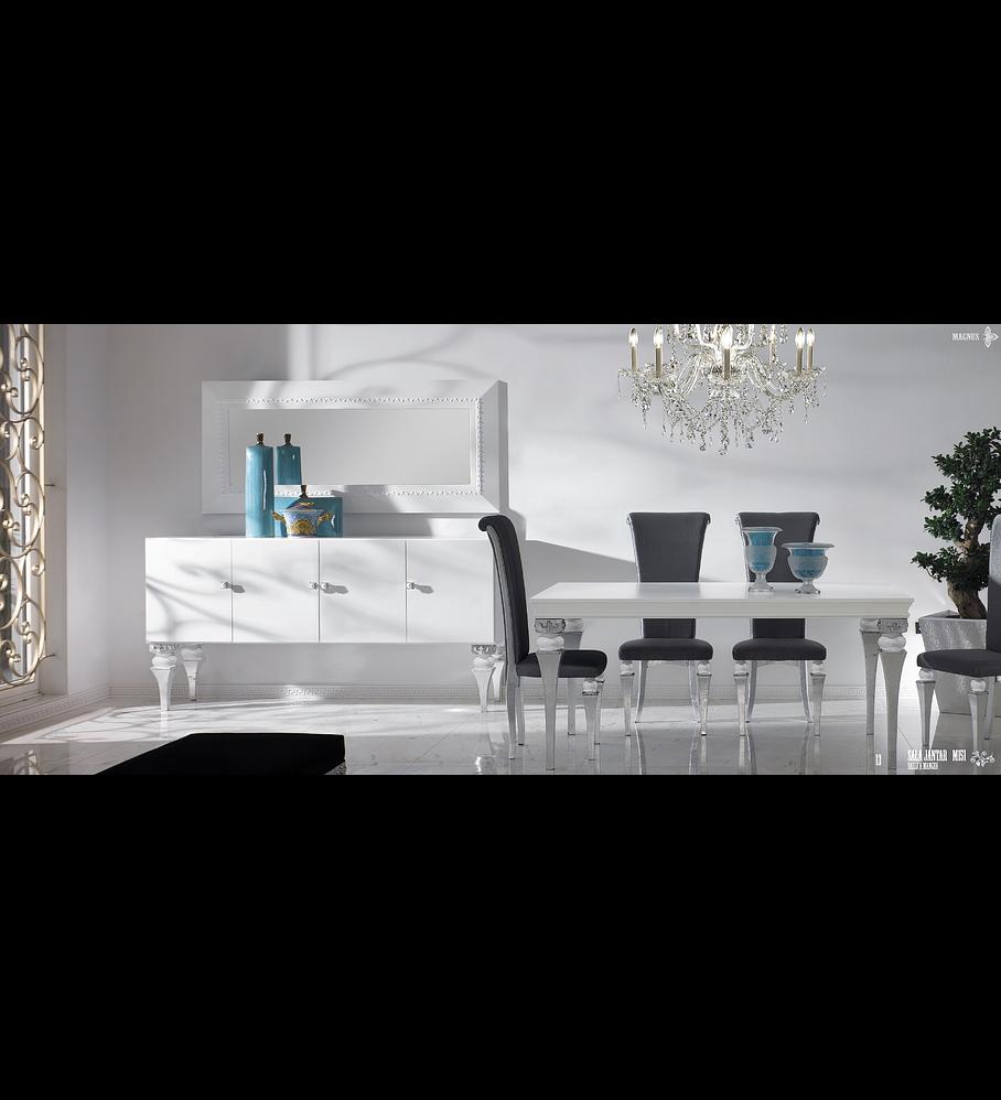Sala de Jantar Branca/Prata M151