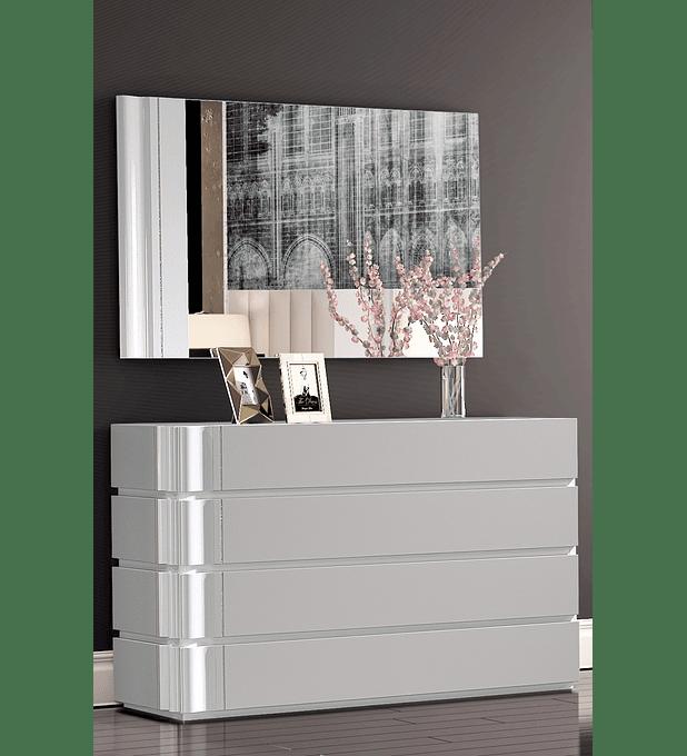 Cómoda Royal Collection Branco Brilho/Capuccino Mate