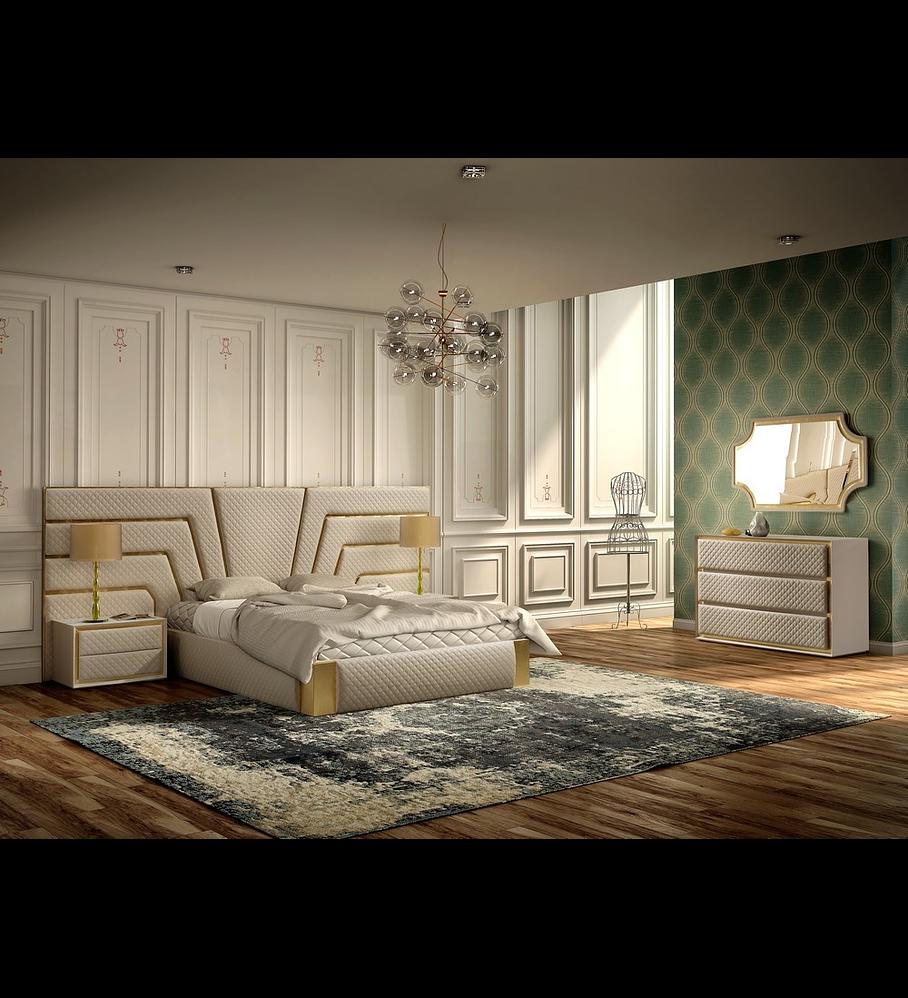 Habitación tapizada en beige / dorado Circe Collection
