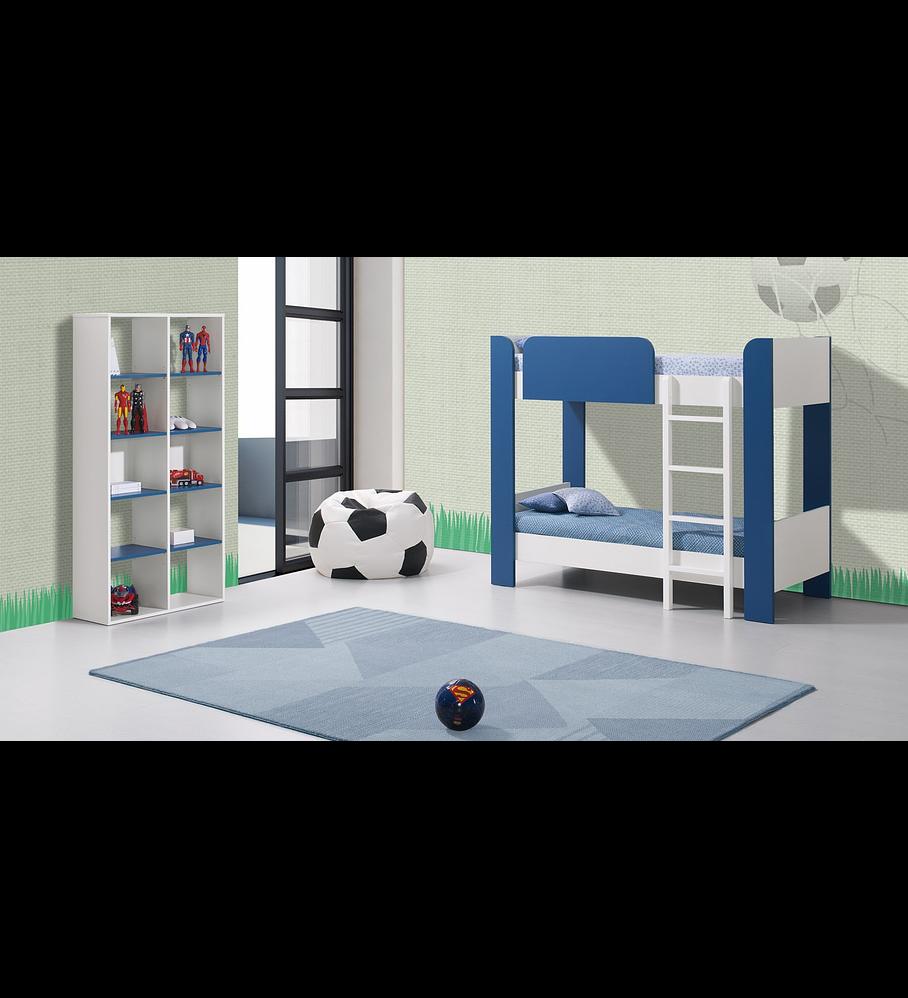 Quarto de Criança Beliche Play Branco / Azul