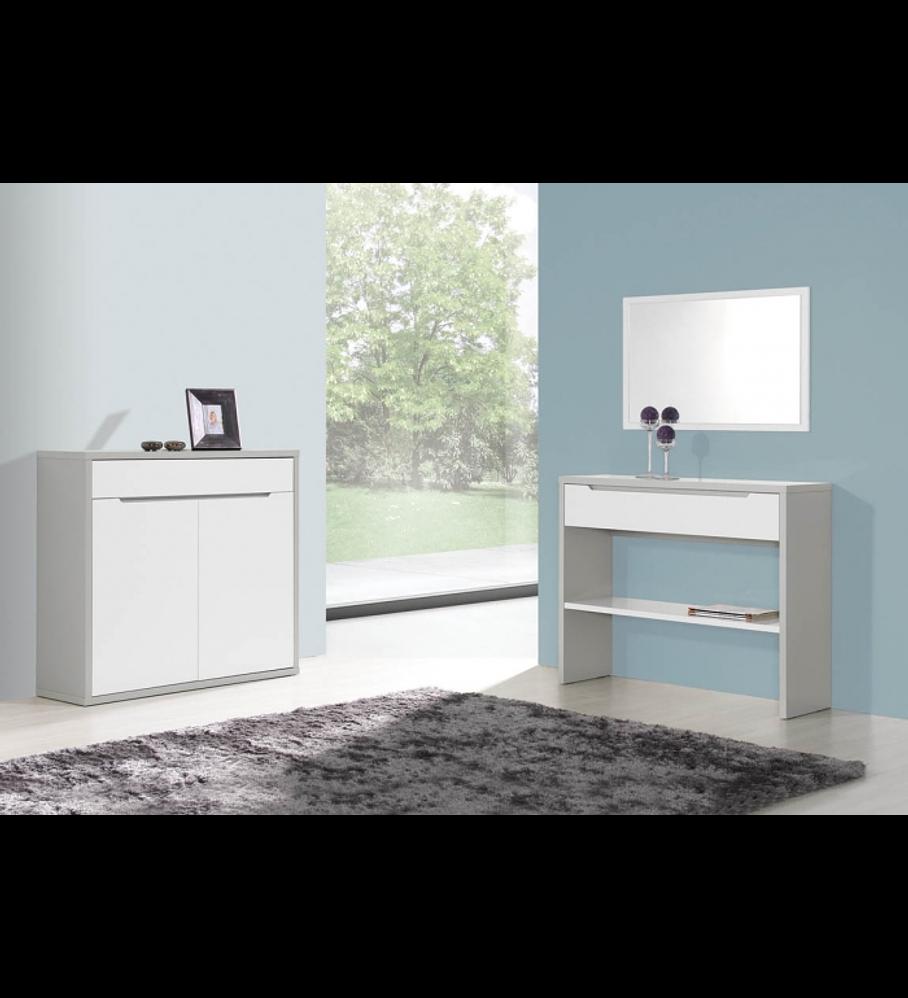 Sala de Estar Viena Cinza / Branco