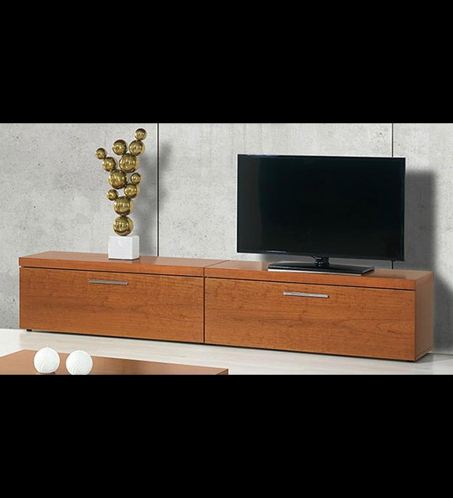 Mueble TV 2 Cajones Mónaco Cerejeira