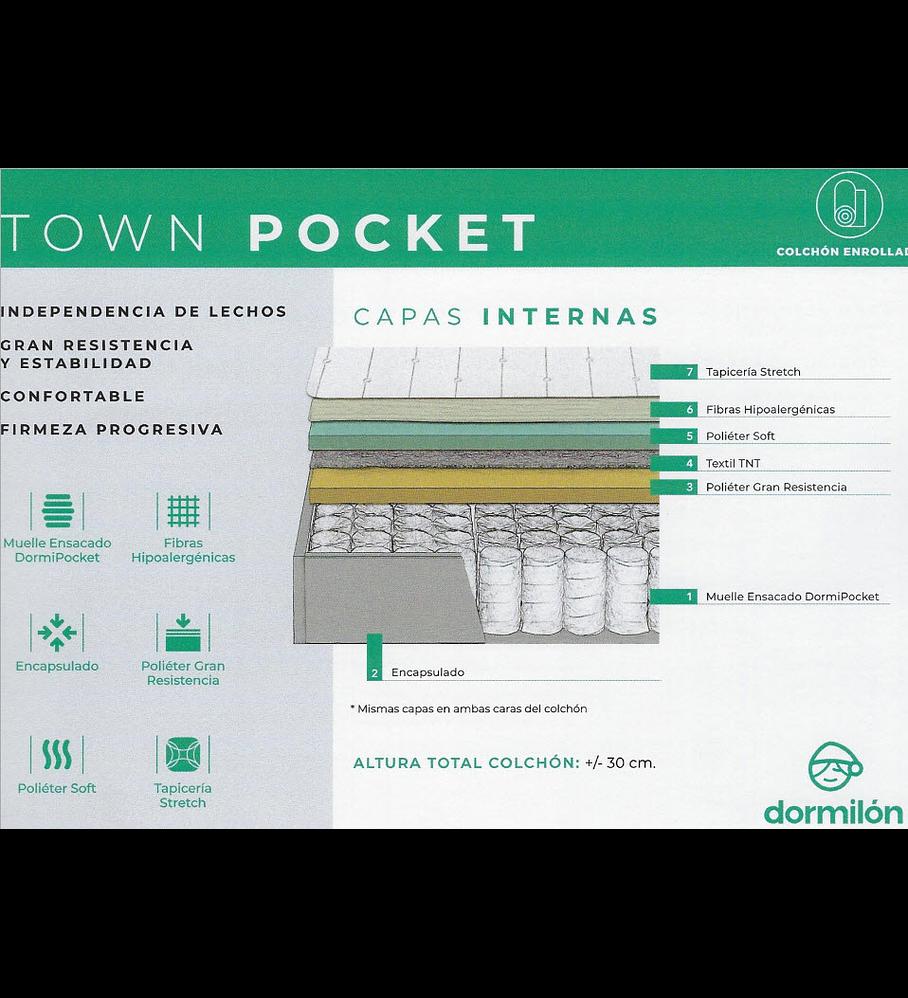 Colchão Dormilon Town Pocket