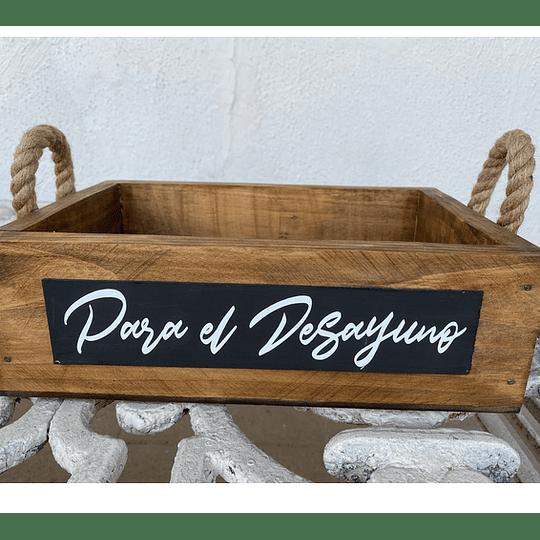 Caja Rústica con Yute (Aliños, Desayuno, Vino)