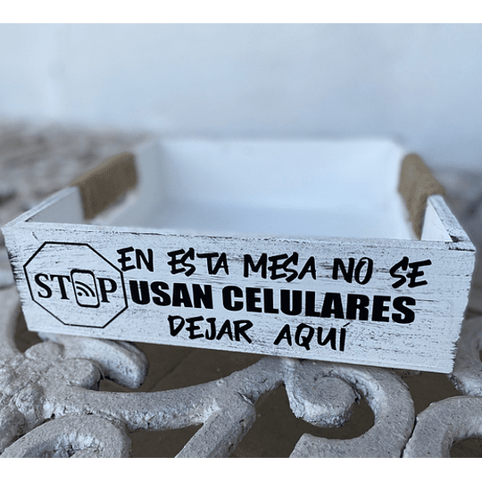 Caja de Madera para tu Mesa (Aliños, No celulares, Cafecito?)