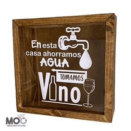 """Caja de Corchos 29x30 cm """"Ahorramos Agua"""""""