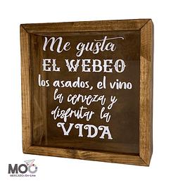 """Caja de Corchos 29x30 cm """"Me gusta el Webeo"""""""