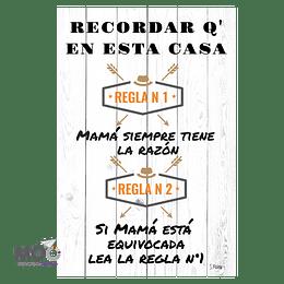 """Cuadro de Madera """"Mamá Siempre Tiene la Razón"""""""