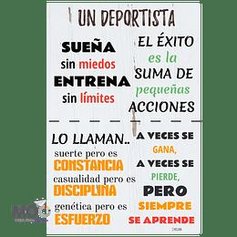 """Cuadro de Madera """"Un Deportista"""""""