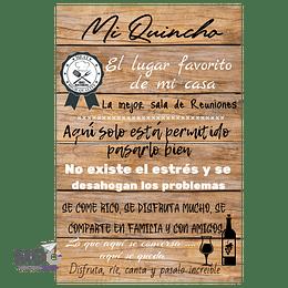 "Cuadro de Madera ""Mi Quincho"""