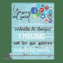"""Cuadro de Madera """"La Mejor Red Social"""""""