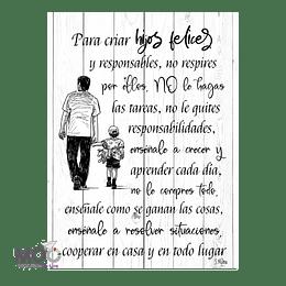 """Cuadro de Madera """"Hijos Felices"""""""