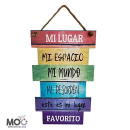 """Cuadro de Madera """"Mi lugar, Mi espacio"""""""