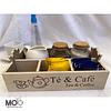Caja de Madera Té & Café
