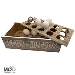 Caja de Madera para los Huevos