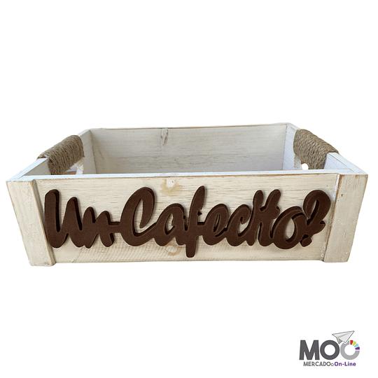 Caja de Madera Blanca Diseños (30x20 cm)