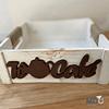 Caja de Madera Blanca Diseños  (25x25 cm)