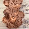 Posavasos de Madera - Flor Tallada
