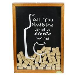 """Caja de corchos 40x50 cm """"Need Wine"""""""