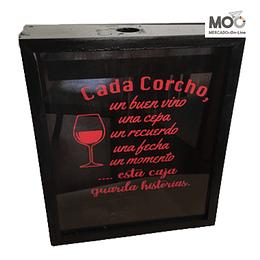 """Caja de Corcho 30x35 """"Cada Corcho"""""""
