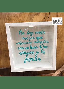 """Caja de Corchos 29x30 cm """"Coleccionar ...."""""""