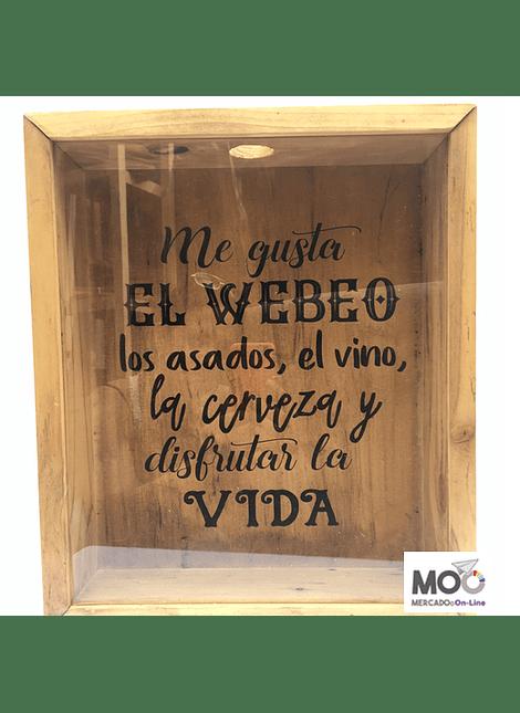 """Caja de Corcho 30x35 cm """"Me gusta el Web..."""""""