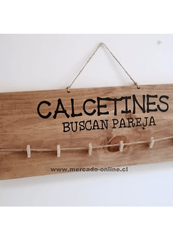 "Cuadro ""Calcetines, buscan Pareja"""