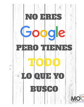 """Cuadro """"No eres Google"""""""