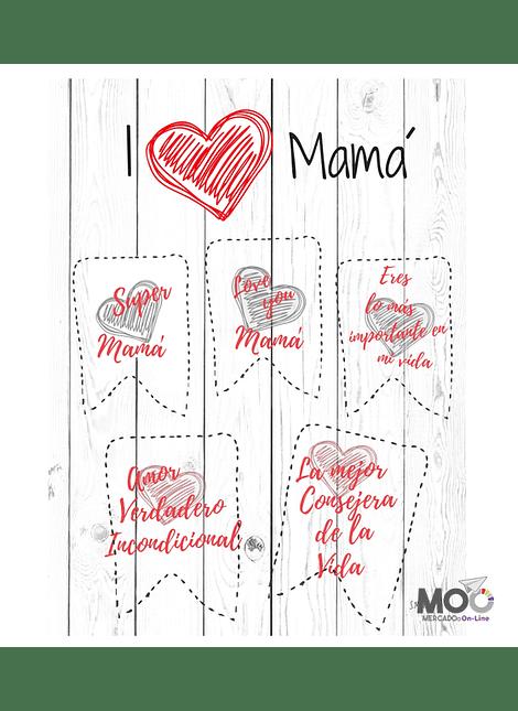 "Cuadro de PVC ""I Love Mamá"""