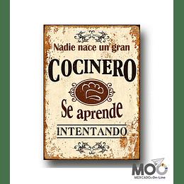 """Cuadro de Madera """"Cocinero"""""""