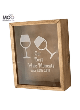 "Caja de Corchos 30x35 cm ""Wine Moments"""