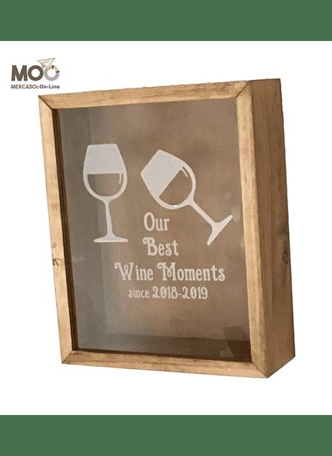 """Caja de Corchos 30x35 cm """"Wine Moments"""""""