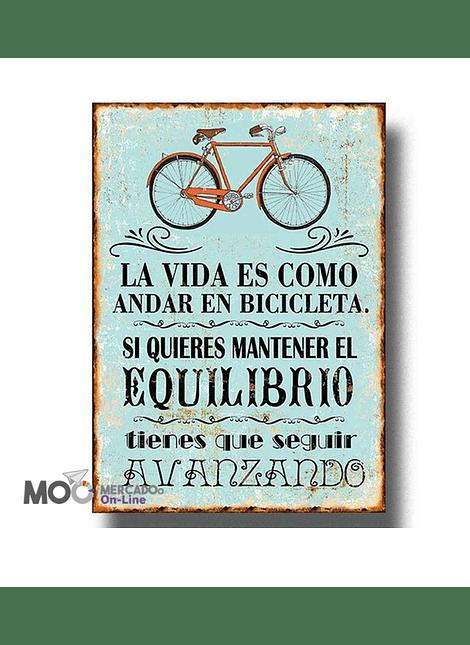 """Cuadro de Madera """"Andar en Bicicleta"""""""