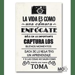 """Cuadro de Madera """" La Camara"""""""