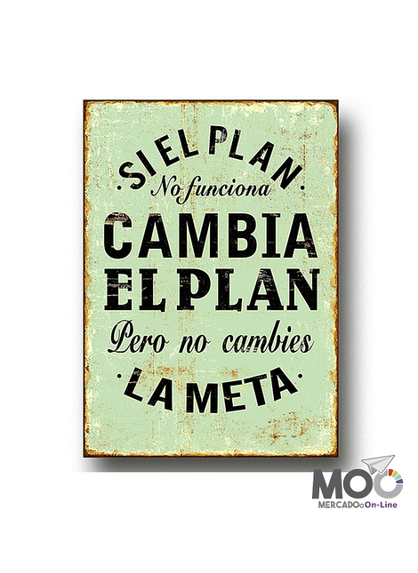 """Cuadro de Madera """"El Plan"""""""