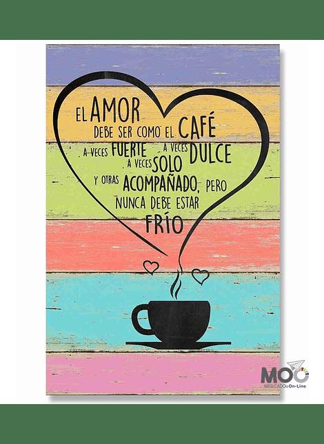 """Cuadro de Madera """"El Amor"""""""